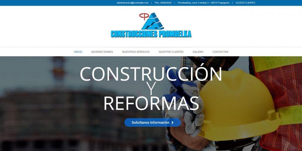Nueva página web de Construcciones Promoelka